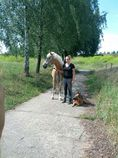 Steffi mit Hannah (Pferd) und Ulf